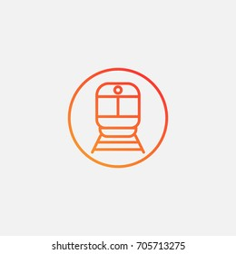 Train icon.gradient illustration isolated vector sign symbol