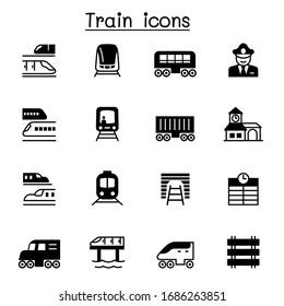 Train icons set vector illustration graphic design