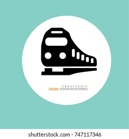 Train icon.train.vector illustration.
