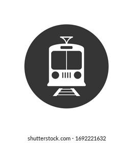 Train icon.Transport flat icon. transportation vector illustration
