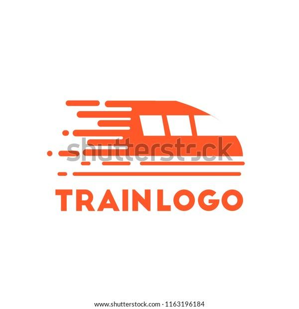 Train Logo Design Stock Vector Royalty Free 1163196184