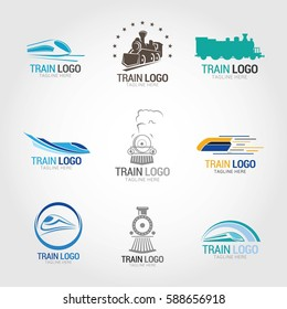 Train Logo Design Template. Vector Illustration.