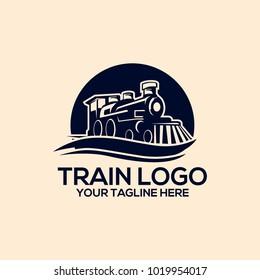 Train logo vector