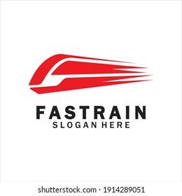 Train logo vector illustration design.fast train logo.High speed train illustration logo-vector illustration