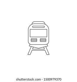 Train on railway vector icon transportation symbol isolated on white background