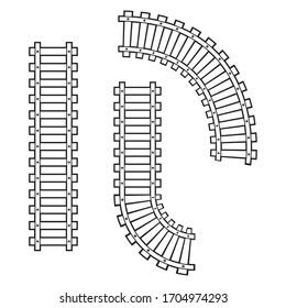 Train railroad vector image template
