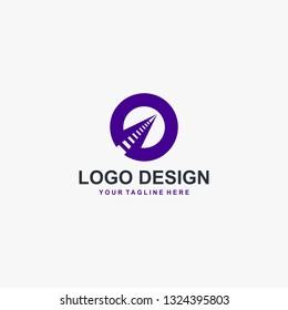 Train railway logo design vector. Transportation logo design.