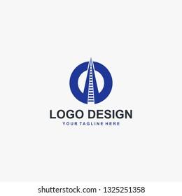 Train railway logo design vector
