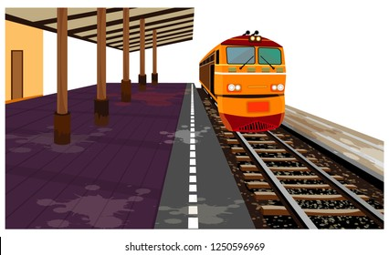 train and railway vector design