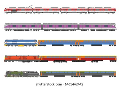 Train set vector With a white background