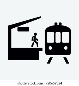 train station icon vector