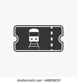 Train ticket icon illustration isolated sign symbol