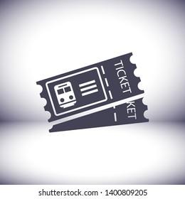 train ticket , icon. Vector  Eps 10 . Lorem Ipsum Flat Design