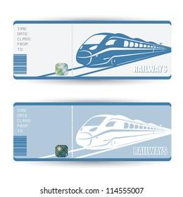 Train tickets - vector illustration