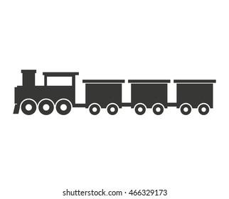 train transport public isolated icon vector illustration design