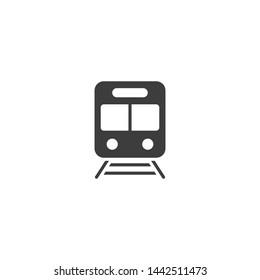 Train vector glyph style icon