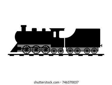 Train vector icon on white background
