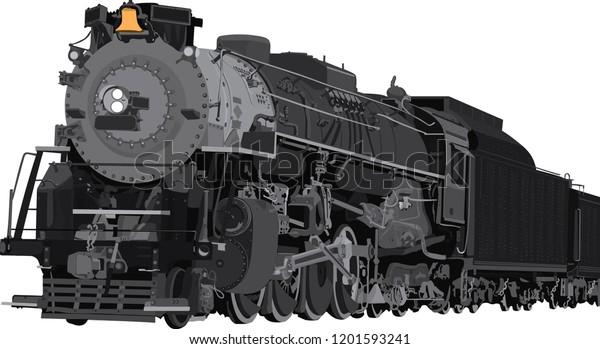 Train Vector Illustration Isolated On White Stock Vector