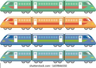 Train vector illustration, vehicle icon .  Shinkansen vector illustration