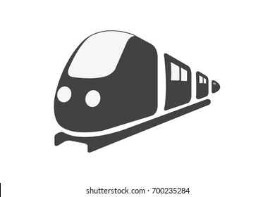 Train vector on white background