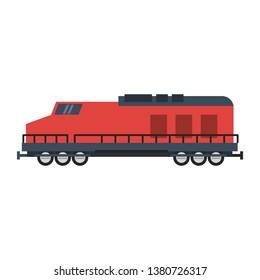 Train vehicle isolated flat