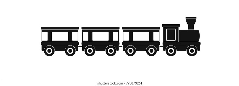Train wagons icon. Simple illustration of train wagons vector icon for web.