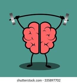 Train your brain. Creative concept illustration.