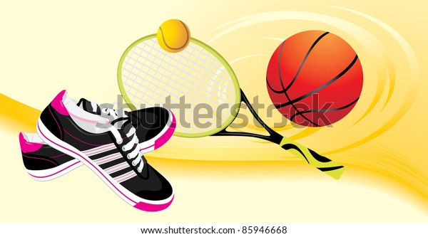 trainers-shoes-tennis-racket-balls-600w-