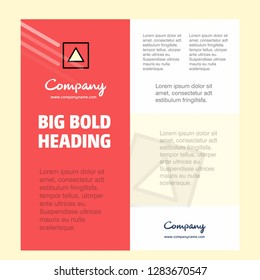 Traingle shape Business Company Poster Template. with place for text and images. vector background