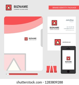 Traingle shape Business Logo, File Cover Visiting Card and Mobile App Design. Vector Illustration