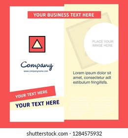 Traingle shape Company Brochure Template. Vector Busienss Template