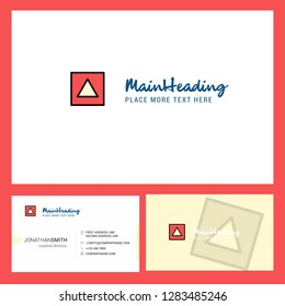 Traingle shape Logo design with Tagline & Front and Back Busienss Card Template. Vector Creative Design