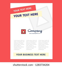 Traingle shape Title Page Design for Company profile ,annual report, presentations, leaflet, Brochure Vector Background