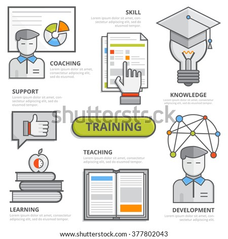 Training Design Concept Coaching Potential Skill Stock Vector