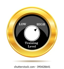 Training level icon. Internet button on white background. EPS10 vector.