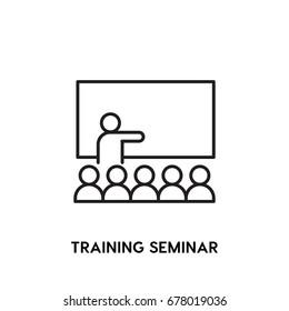 Training Seminar Vector Icon, school symbol. Modern, simple flat vector illustration for web site or mobile app
