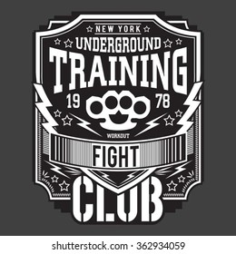 Training sport fighter typography, t-shirt graphics, vectors