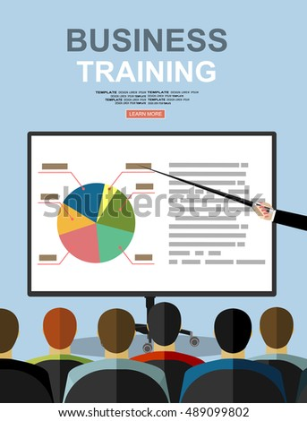 training staff business presentation meeting financial stock vector