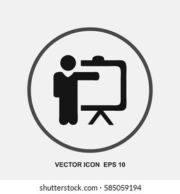 training teacher vector icon