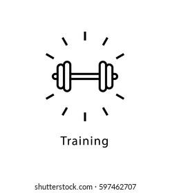 Training Vector Line Icon