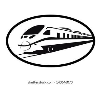 train,railway symbol black and white