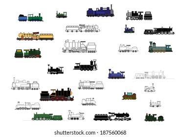 trains black classic coal old railway tourist