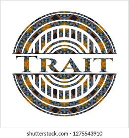 Trait arabesque emblem. arabic decoration.