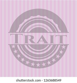 Trait badge with pink background