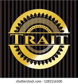Trait gold emblem