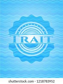 Trait water concept style emblem.