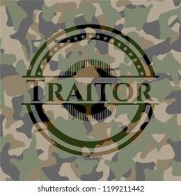 Traitor camouflaged emblem