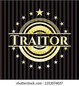 Traitor golden emblem