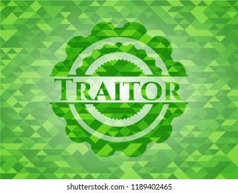 Traitor green mosaic emblem