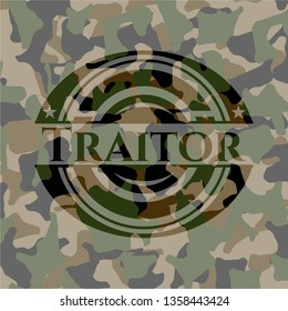 Traitor on camo pattern